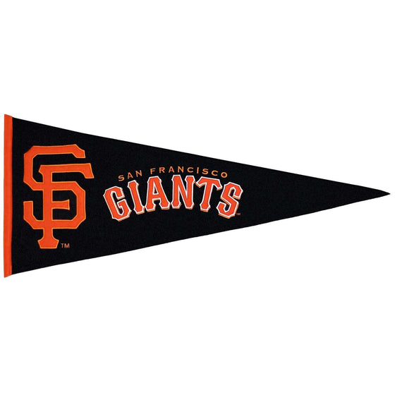 MLB, San Francisco Giants, Pennants - Horizontal, Embroidered Pennant, Officially licensed pennant, San Francisco Giants gift