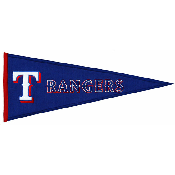 MLB, Texas Rangers, Pennants - Horizontal, Embroidered Pennant, Officially licensed pennant, Texas Rangers gift