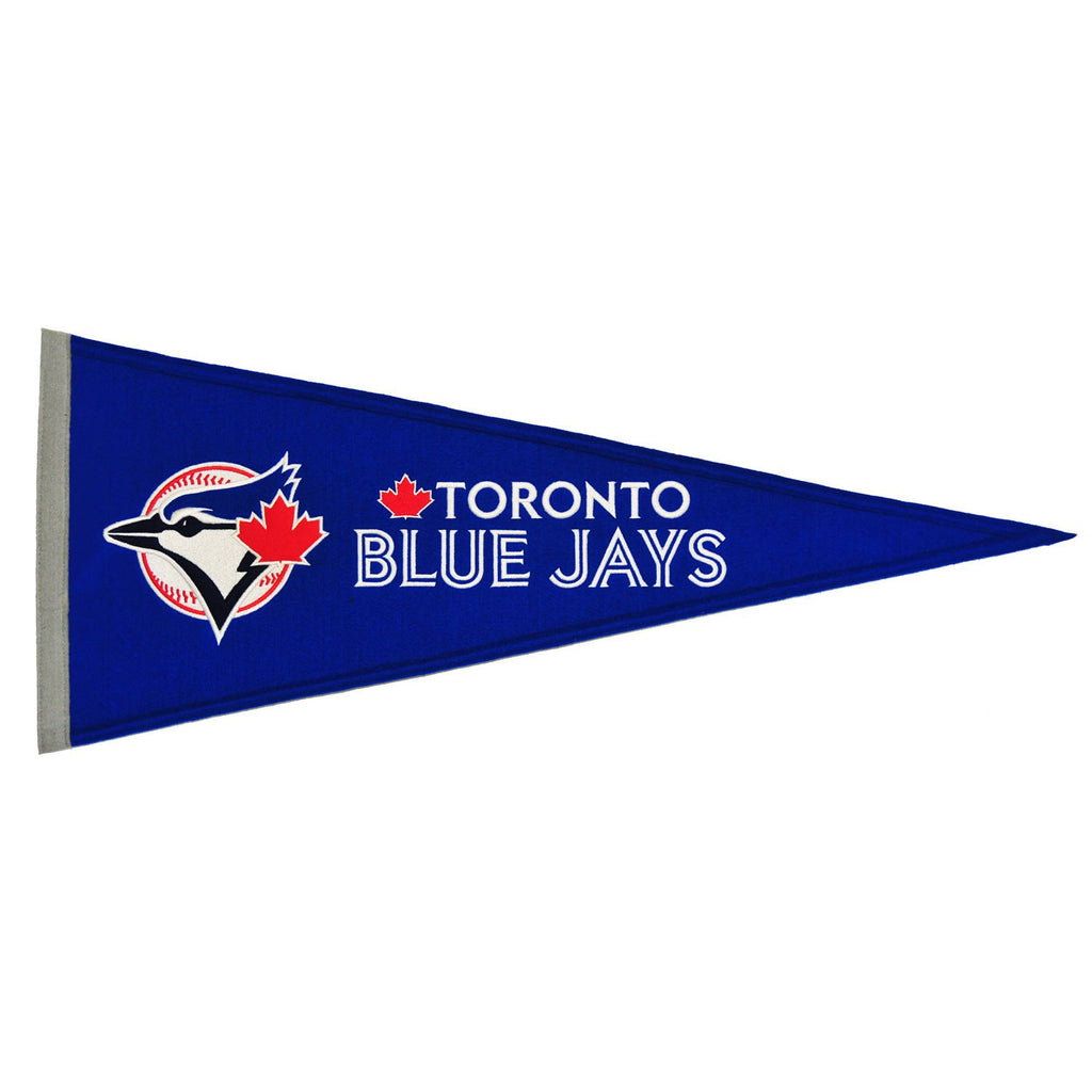 MLB, Toronto Blue Jays, Pennants - Horizontal, Embroidered Pennant, Officially licensed pennant, Toronto Blue Jays gift
