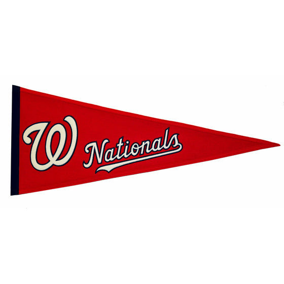 MLB, Washington Nationals, Pennants - Horizontal, Embroidered Pennant, Officially licensed pennant, Washington Nationals gift