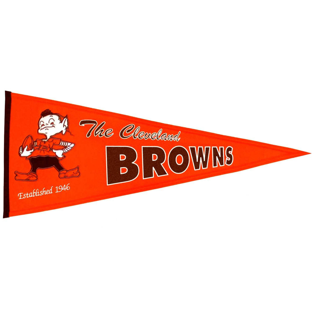NFL, Cleveland Browns, Pennants - Horizontal, Embroidered Pennant, Officially licensed pennant, Cleveland Browns gift