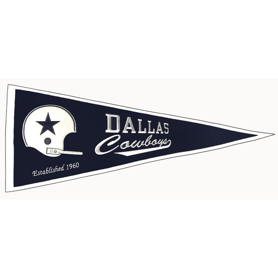 NFL, Dallas Cowboys, Pennants - Horizontal, Embroidered Pennant, Officially licensed pennant, Dallas Cowboys gift