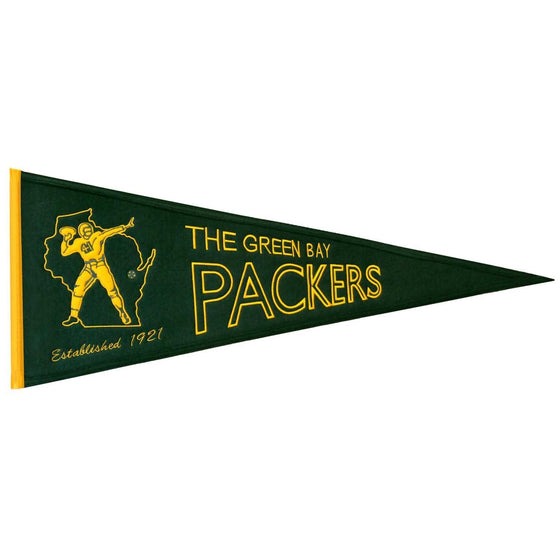 NFL, Green Bay Packers, Pennants - Horizontal, Embroidered Pennant, Officially licensed pennant, Green Bay Packers gift