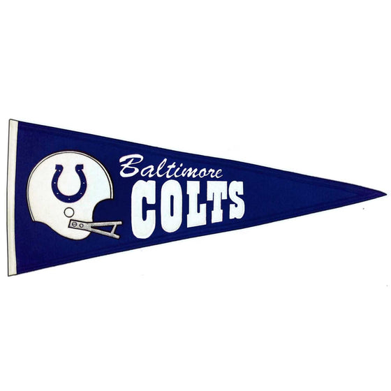 NFL, Indianapolis Colts, Baltimore Colts, Pennants - Horizontal, Embroidered Pennant, Officially licensed pennant, Indianapolis Colts gift