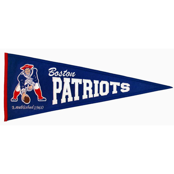 NFL, New England Patriots, Pennants - Horizontal, Embroidered Pennant, Officially licensed pennant, New England Patriots gift