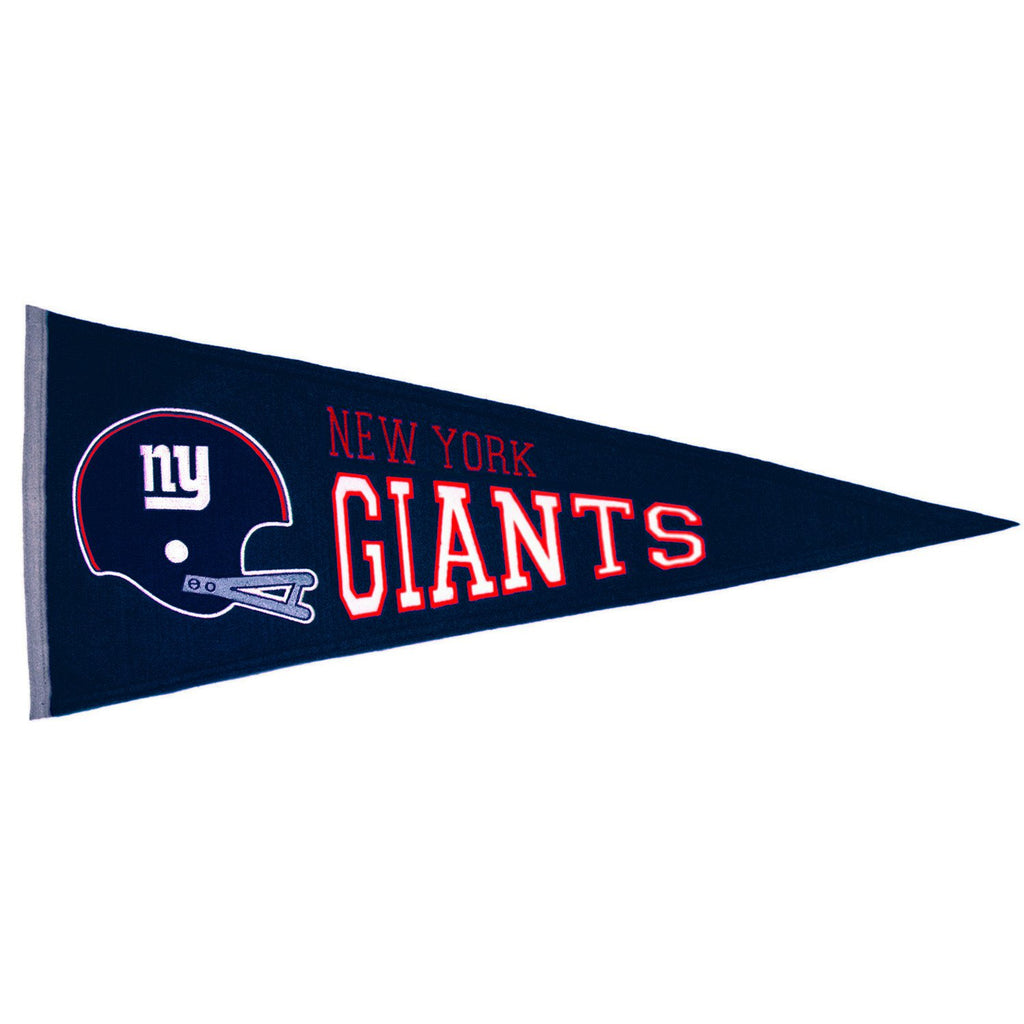 NFL, New York Giants, Pennants - Horizontal, Embroidered Pennant, Officially licensed pennant, New York Giants gift