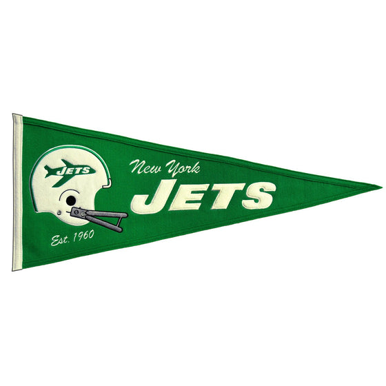 NFL, New York Jets, Pennants - Horizontal, Embroidered Pennant, Officially licensed pennant, New York Jets gift