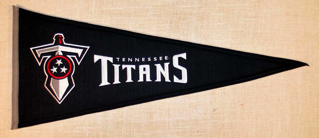 NFL, Tennessee Titans, Pennants - Horizontal, Embroidered Pennant, Officially licensed pennant, Tennessee Titans gift