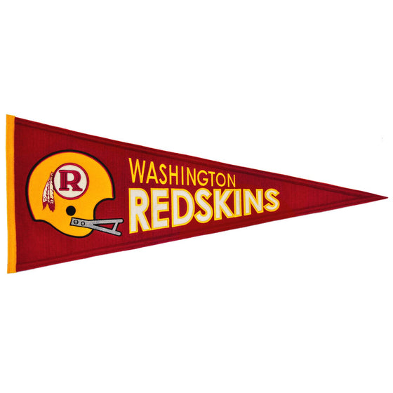 NFL, Washington Redskins, Pennants - Horizontal, Embroidered Pennant, Officially licensed pennant, Washington Redskins gift
