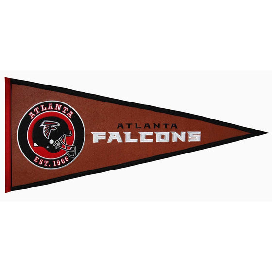 NFL, Atlanta Falcons, Pennants - Horizontal, Embroidered Pennant, Officially licensed pennant, Atlanta Falcons gift
