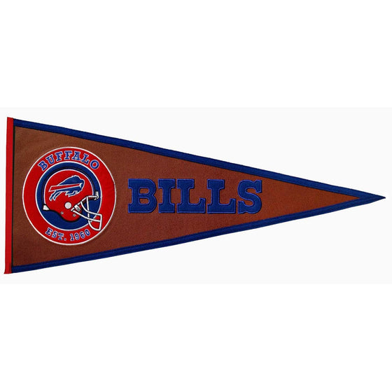 NFL, Buffalo Bills, Pennants - Horizontal, Embroidered Pennant, Officially licensed pennant, Buffalo Bills gift