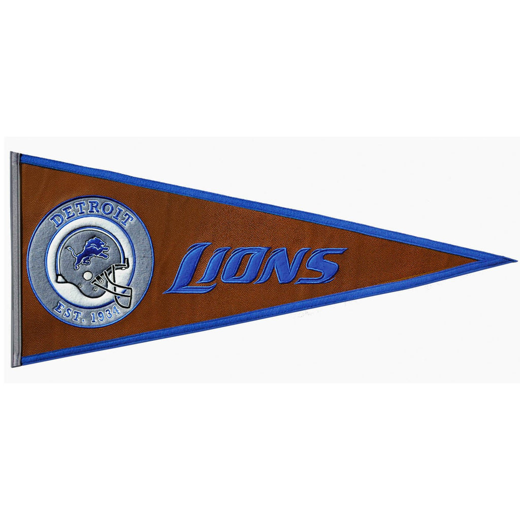 NFL, Detroit Lions, Pennants - Horizontal, Embroidered Pennant, Officially licensed pennant, Detroit Lions gift