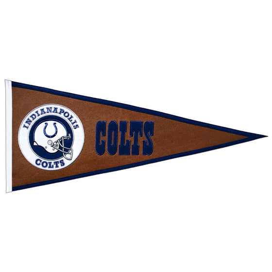 NFL, Indianapolis Colts, Pennants - Horizontal, Embroidered Pennant, Officially licensed pennant, Indianapolis Colts gift