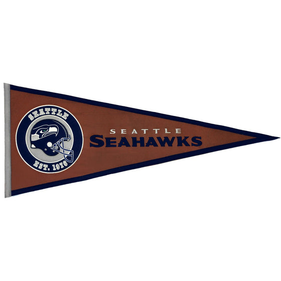 NFL, Seattle Seahawks, Pennants - Horizontal, Embroidered Pennant, Officially licensed pennant, Seattle Seahawks gift