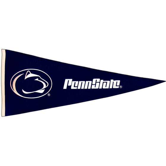 NCAA, Penn State, Pennants - Horizontal, Embroidered Pennant, Officially licensed pennant, Penn State gift
