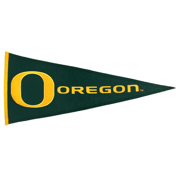 NCAA, Oregon, Pennants - Horizontal, Embroidered Pennant, Officially licensed pennant, Oregon gift