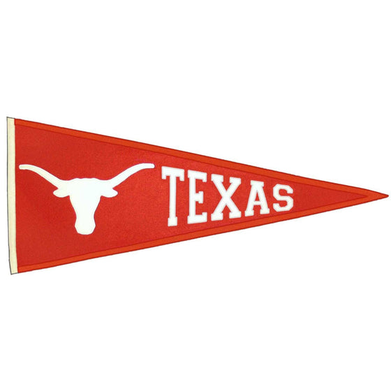 NCAA, Texas, Pennants - Horizontal, Embroidered Pennant, Officially licensed pennant, Texas gift