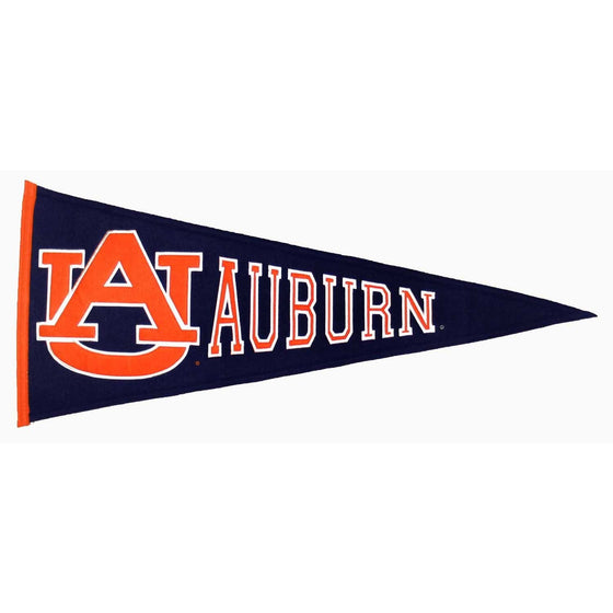 NCAA, Auburn, Pennants - Horizontal, Embroidered Pennant, Officially licensed pennant, Auburn gift