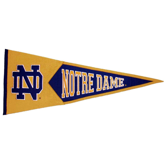 NCAA, Notre Dame, Pennants - Horizontal, Embroidered Pennant, Officially licensed pennant, Notre Dame gift
