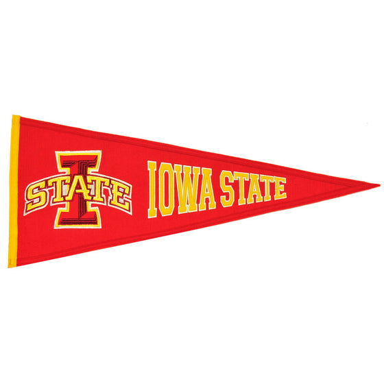 NCAA, Iowa State, Pennants - Horizontal, Embroidered Pennant, Officially licensed pennant, Iowa State gift