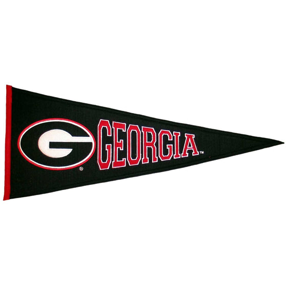 NCAA, Georgia, Pennants - Horizontal, Embroidered Pennant, Officially licensed pennant, Georgia gift