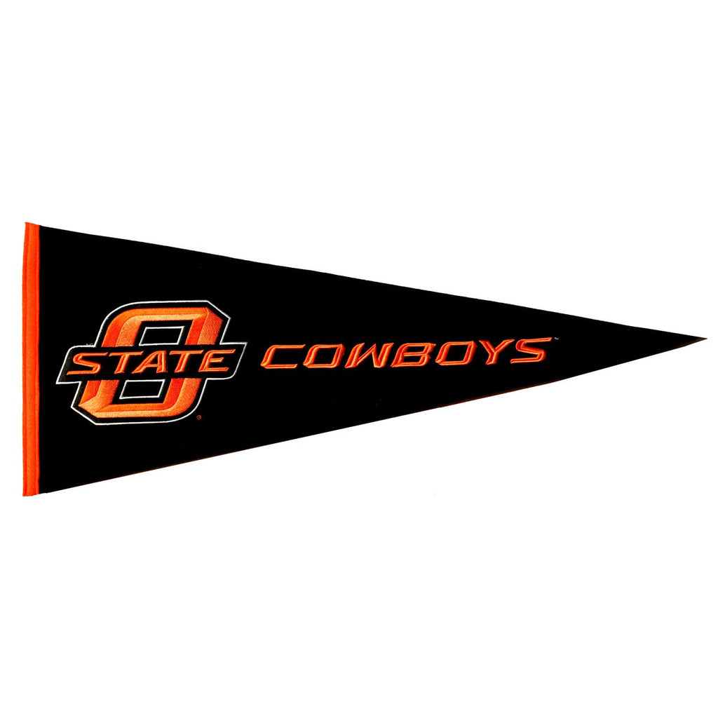NCAA, Oklahoma State, Pennants - Horizontal, Embroidered Pennant, Officially licensed pennant, Oklahoma State gift