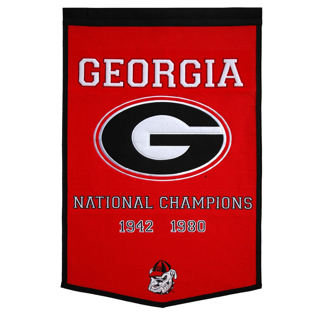 NCAA, Georgia, Banners, Embroidered Banner, Officially licensed banner, Georgia gift