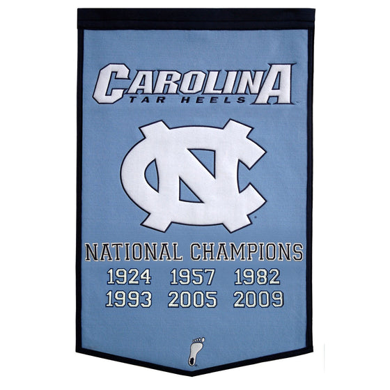 NCAA, North Carolina, Banners, Embroidered Banner, Officially licensed banner, North Carolina gift