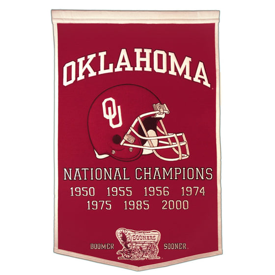 NCAA, Oklahoma, Banners, Embroidered Banner, Officially licensed banner, Oklahoma gift