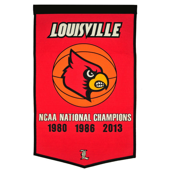 NCAA, Louisville, Banners, Embroidered Banner, Officially licensed banner, Louisville gift