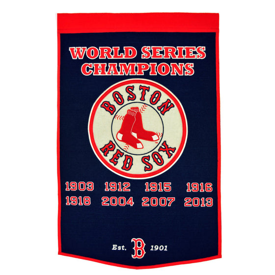 MLB, Boston Red Sox, Banners, Embroidered Banner, Officially licensed banner, Boston Red Sox gift