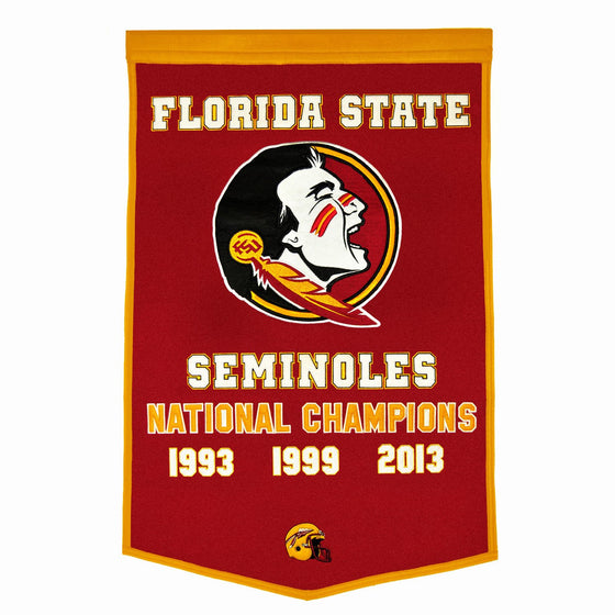 NCAA, Florida State, Banners, Embroidered Banner, Officially licensed banner, Florida State gift