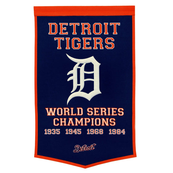 MLB, Detroit Tigers, Banners, Embroidered Banner, Officially licensed banner, Detroit Tigers gift