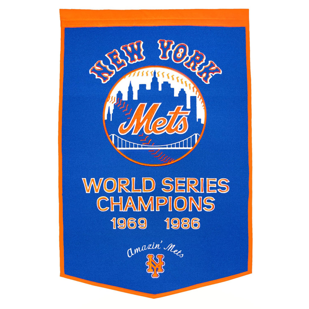 MLB, New York Mets, Banners, Embroidered Banner, Officially licensed banner, New York Mets gift