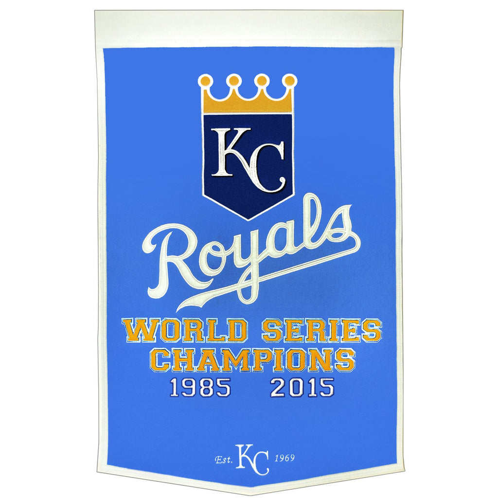 MLB, Kansas City Royals, Banners, Embroidered Banner, Officially licensed banner, Kansas City Royals gift