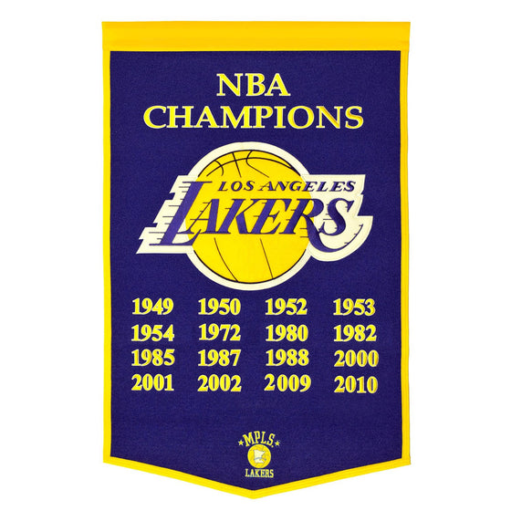 NBA, Los Angeles Lakers, Banners, Embroidered Banner, Officially licensed banner, Los Angeles Lakers gift