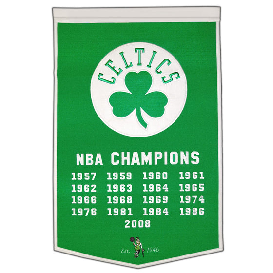 NBA, Boston Celtics, Banners, Embroidered Banner, Officially licensed banner, Boston Celtics gift
