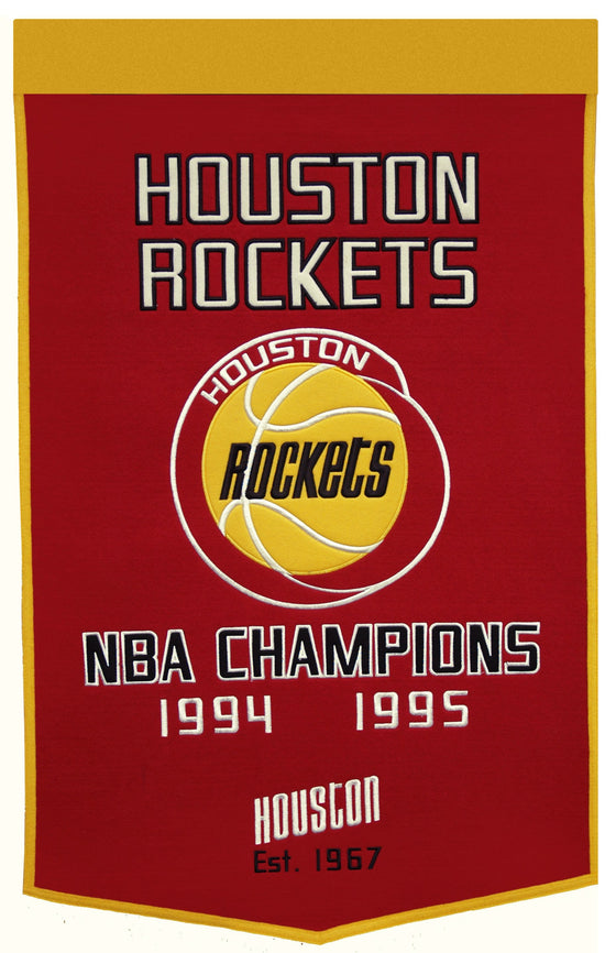 NBA, Houston Rockets, Banners, Embroidered Banner, Officially licensed banner, Houston Rockets gift