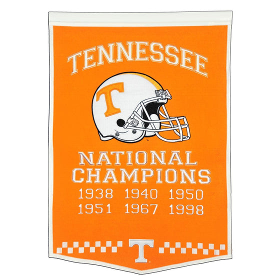 NCAA, Tennessee, Banners, Embroidered Banner, Officially licensed banner, Tennessee gift