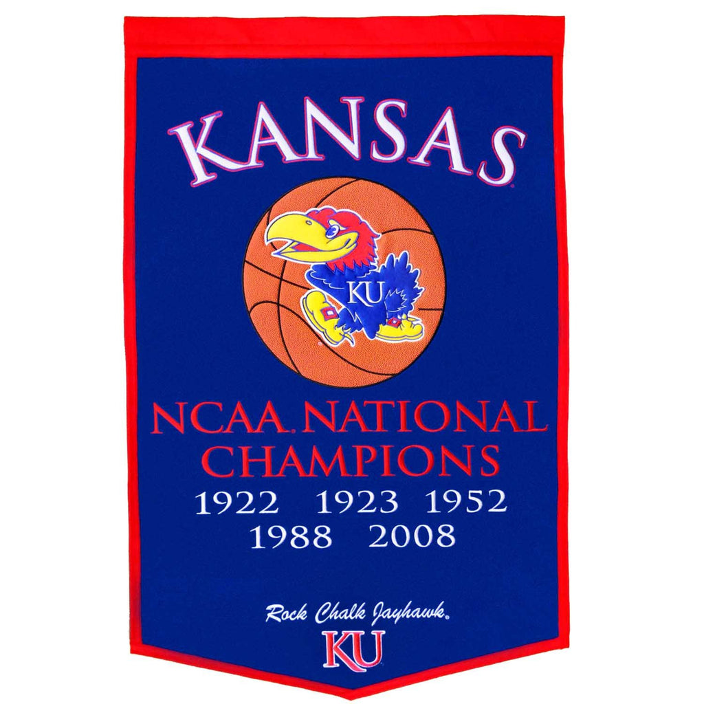 NCAA, Kansas, Banners, Embroidered Banner, Officially licensed banner, Kansas gift