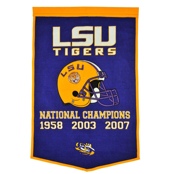 NCAA, Louisiana State / LSU, Banners, Embroidered Banner, Officially licensed banner, Louisiana State / LSU gift