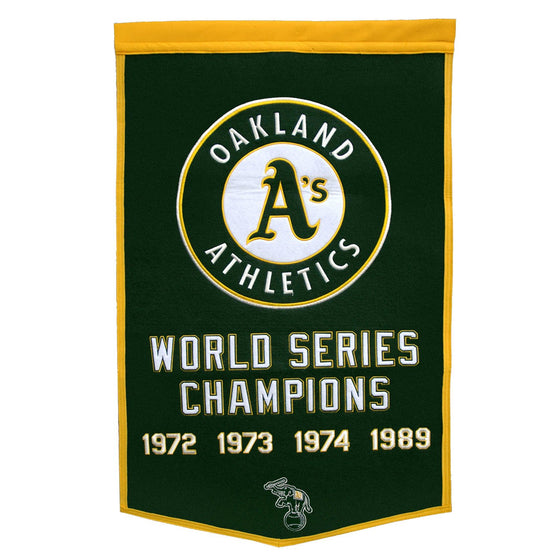 MLB, Oakland Athletics, Banners, Embroidered Banner, Officially licensed banner, Oakland Athletics gift