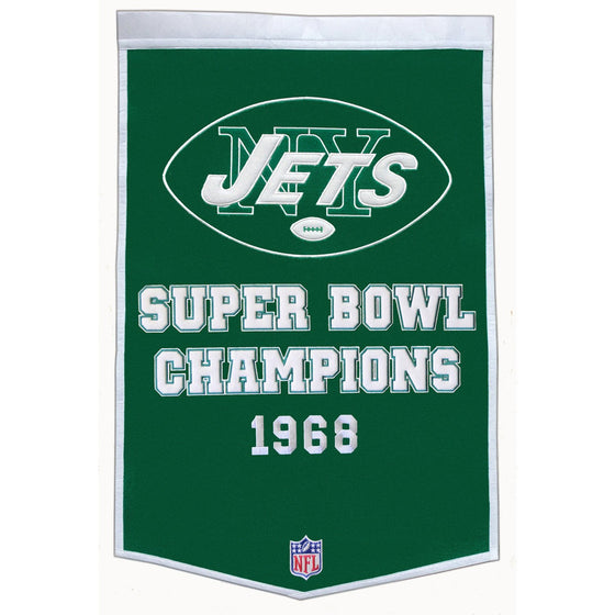 NFL, New York Jets, Banners, Embroidered Banner, Officially licensed banner, New York Jets gift