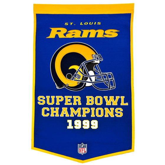 NFL, St. Louis Rams, Banners, Embroidered Banner, Officially licensed banner, St. Louis Rams gift