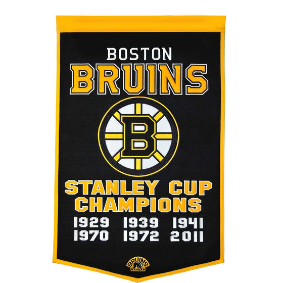 NHL, Boston Bruins, Banners, Embroidered Banner, Officially licensed banner, Boston Bruins gift