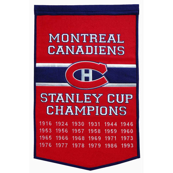 NHL, Montreal Canadiens, Banners, Embroidered Banner, Officially licensed banner, Montreal Canadiens gift