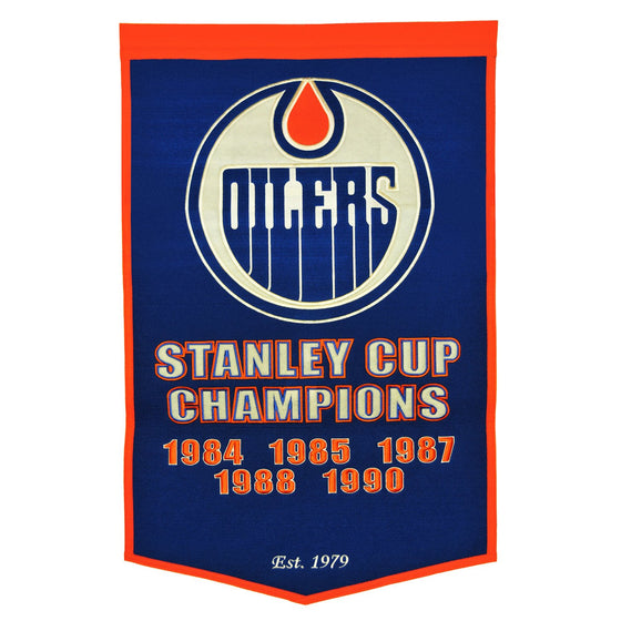 NHL, Edmonton Oilers, Banners, Embroidered Banner, Officially licensed banner, Edmonton Oilers gift