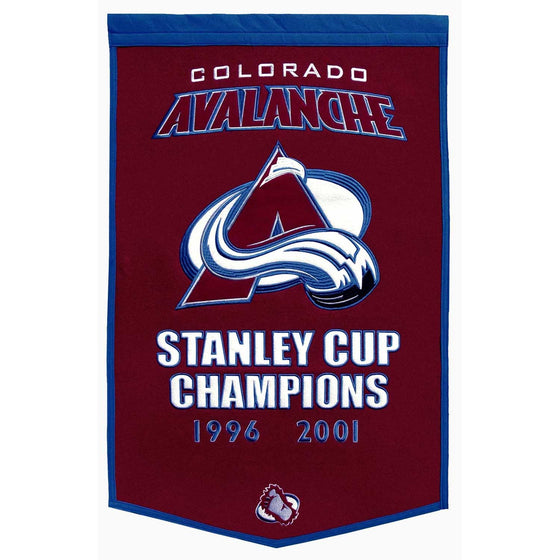 NHL, Colorado Avalanche, Banners, Embroidered Banner, Officially licensed banner, Colorado Avalanche gift