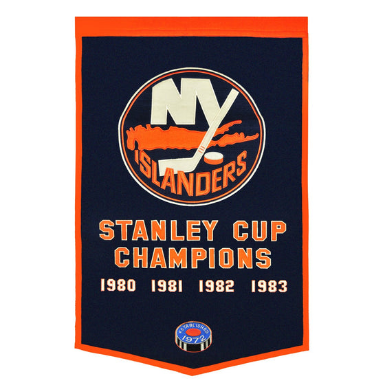 NHL, New York Islanders, Banners, Embroidered Banner, Officially licensed banner, New York Islanders gift
