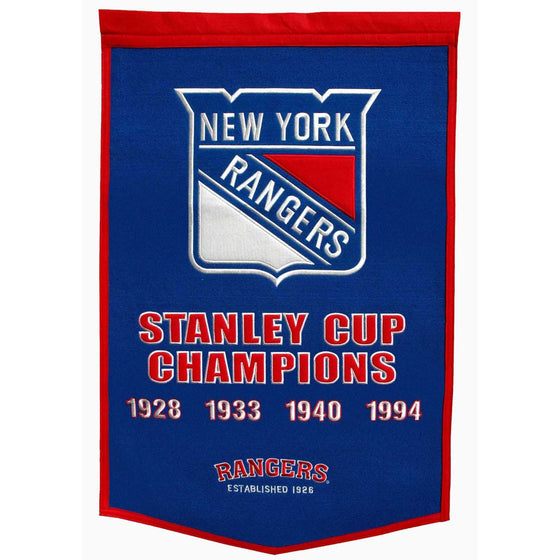 NHL, New York Rangers, Banners, Embroidered Banner, Officially licensed banner, New York Rangers gift